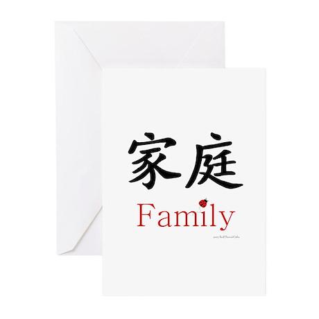 Family Symbol w/ Ladybug Greeting Cards