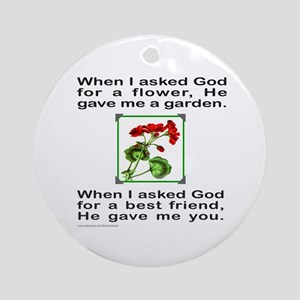 GOD GAVE ME YOU Ornament (Round)