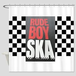 Rude Boy Ska Shower Curtain