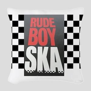 Rude Boy Ska Woven Throw Pillow