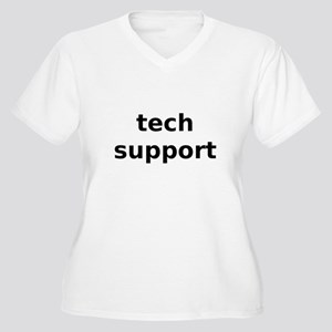 Tech Support Women's Plus Size V-Neck T-Shirt