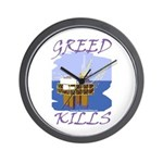Greed Kills Wall Clock