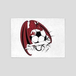 dragon soccer ball tatto 5'x7'Area Rug