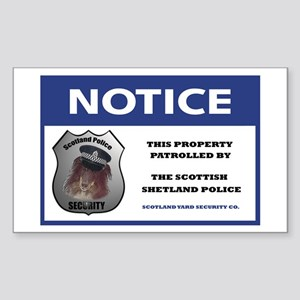 Scotland Security Rectangle Sticker