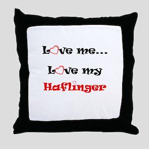 Love my Haflinger Throw Pillow