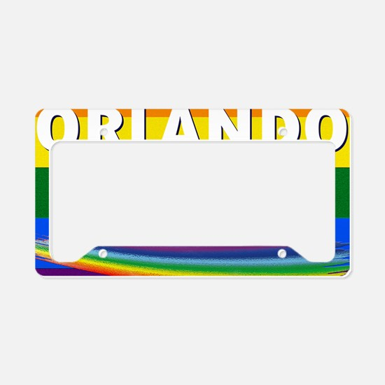 ORLANDO STRONG PRIDE License Plate Holder