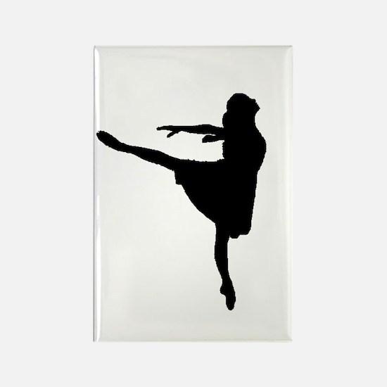 Ballet Girl Rectangle Magnet (10 pack)