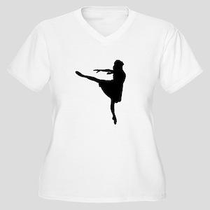 Ballet Girl Women's Plus Size V-Neck T-Shirt