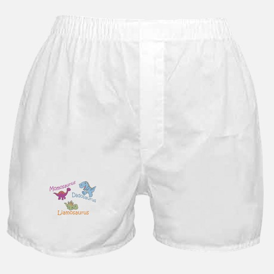 Mom, Dad & Liamosaurus Boxer Shorts