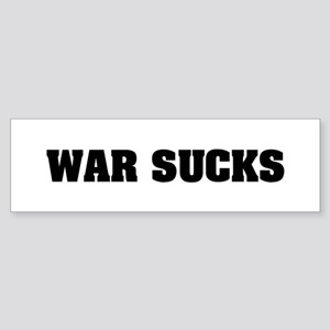 WAR SUCKS Bumper Sticker