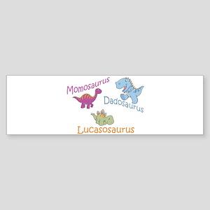Mom, Dad & Lucasosaurus Bumper Sticker