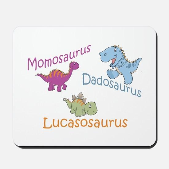 Mom, Dad & Lucasosaurus Mousepad