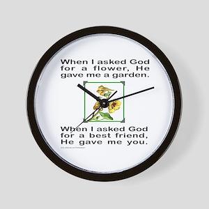 BFF GOD GAVE ME YOU Wall Clock