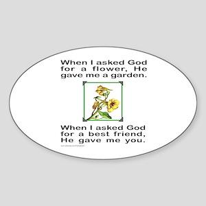 BFF GOD GAVE ME YOU Oval Sticker