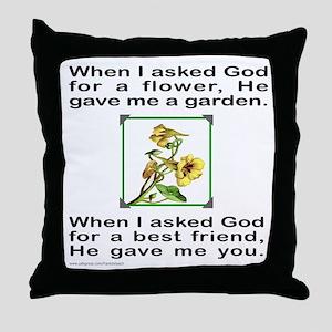 BFF GOD GAVE ME YOU Throw Pillow
