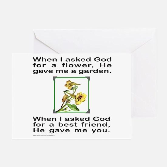 BFF GOD GAVE ME YOU Greeting Card