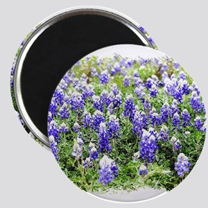 Abstract Bluebonnets #2 Magnets