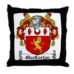 MacCartan Family Crest Throw Pillow