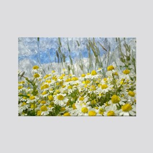 Painted Wild Daisies Magnets