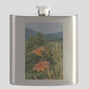 Orange Lilies Flask