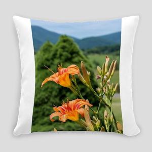 Orange Lilies Everyday Pillow