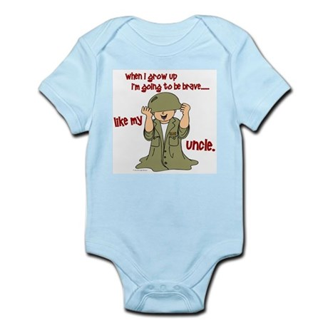 Brave Like My Uncle 1 Infant Bodysuit