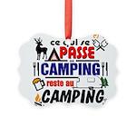 au camping reste au camping Ornament