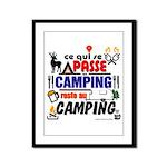 au camping reste au camping Framed Panel Print