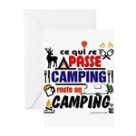 au camping reste au camping Greeting Cards