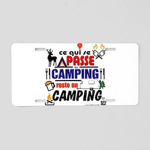 au camping reste au camping Aluminum License Plate