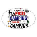 au camping reste au camping Sticker