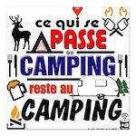 au camping reste au camping Square Car Magnet 3