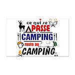 au camping reste au camping Rectangle Car Magnet