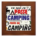 au camping reste au camping Framed Tile