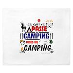 au camping reste au camping King Duvet