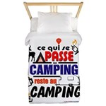 au camping reste au camping Twin Duvet Cover