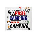 au camping reste au camping Throw Blanket