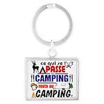 au camping reste au camping Keychains