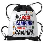 au camping reste au camping Drawstring Bag