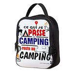 au camping reste au camping Neoprene Lunch Bag