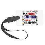 au camping reste au camping Luggage Tag