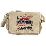 au camping reste au camping Messenger Bag