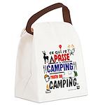 au camping reste au camping Canvas Lunch Bag