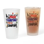 au camping reste au camping Drinking Glass
