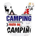 au camping reste au camping Polyester Baby Bib