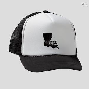 Louisiana Home Black and White Kids Trucker hat