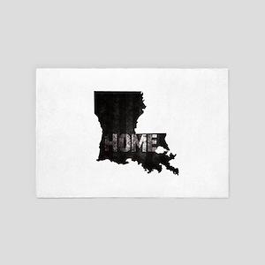 Louisiana Home Black and White 4' x 6' Rug