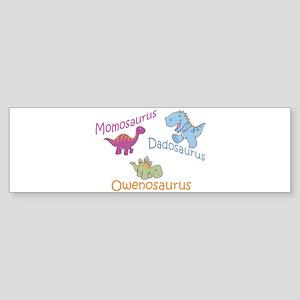 Mom, Dad & Owenosaurus Bumper Sticker