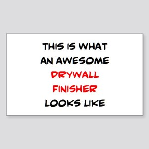 awesome drywall finisher Sticker (Rectangle)