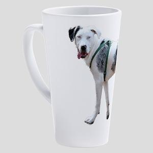 Catahoula Cur Puppy 17 oz Latte Mug